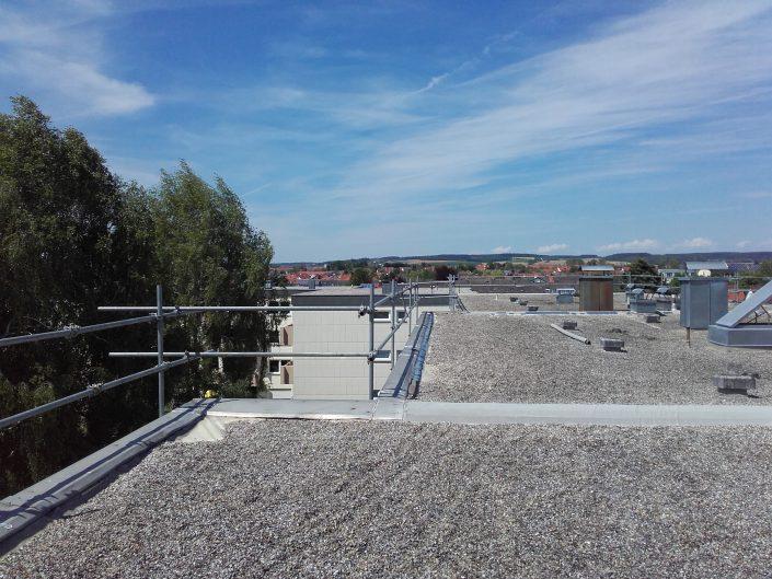 Flachdachschutz für Dachdecker