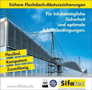 Sichere Flachdachabsturzsicherung von SIFATEC