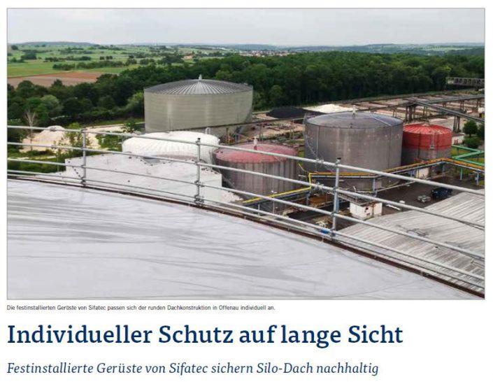 Stationärer Seitenschutz für die Südzucker AG