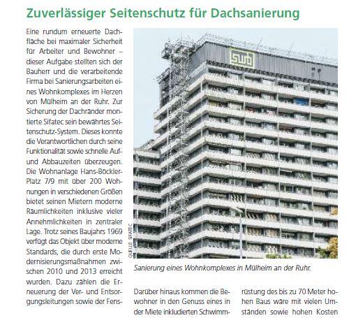 Gebäude Grün 2/2020 - Zuverlässiger Seitenschutz für Dachsanierung