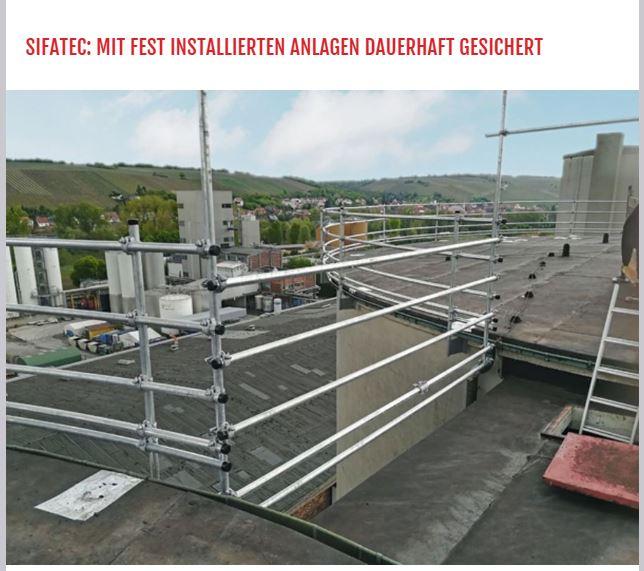 Stationäre Absturzsicherung für die Südzucker AG in Offenau