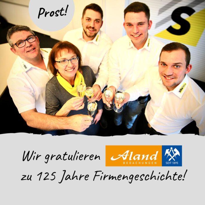 Sifatec gratuliert Aland Bedachungen zu 125 Jahre Firmengeschichte